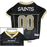 New Orleans Saints Gold Trim Dog Jersey