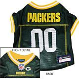 Green Bay Packers Gold Trim Dog Jersey