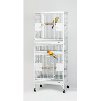 Avian Adventures Multi Vista Bird Cage Pearl White