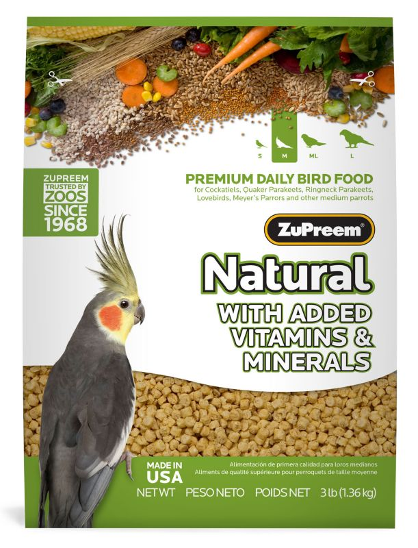 ZuPreem Natural Bird Food Cockatiel 20lb
