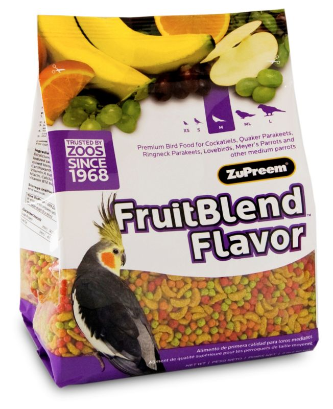 ZuPreem Fruit Blend Bird Food Cockatiel 2lb Best Price
