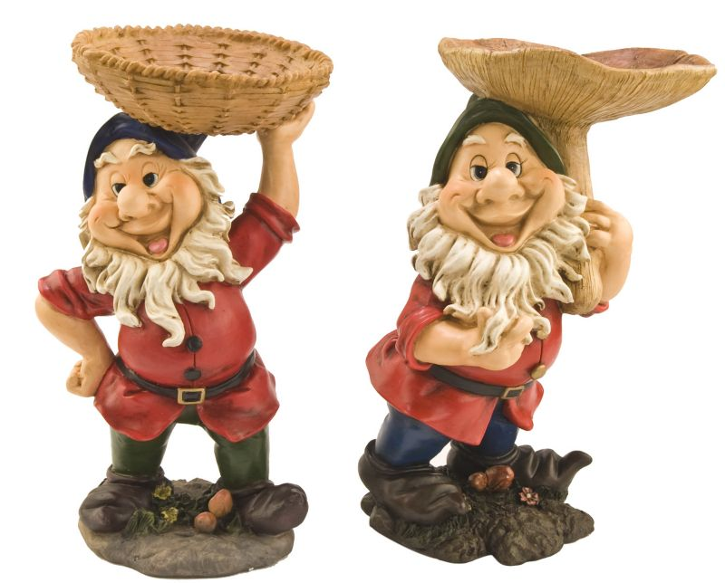 Gnome With Wild Bird Feeder Basket