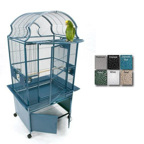 A and E Small Fan Top Bird Cage Black