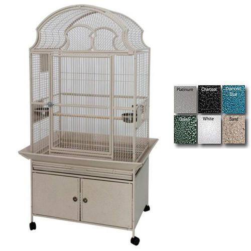 A and E Medium Fan Top Bird Cage Platinum