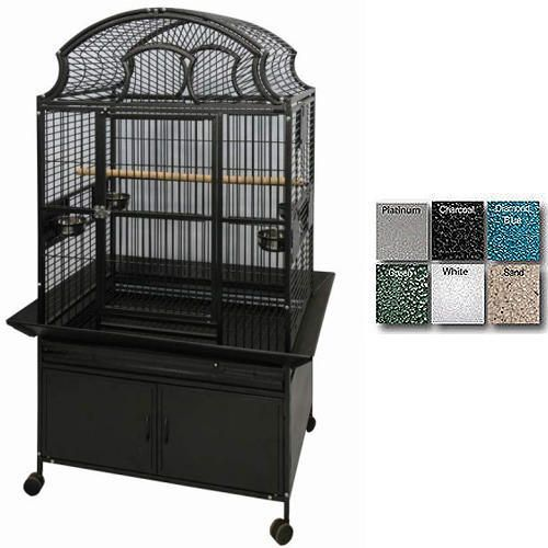 A and E Large Fan Top Bird Cage Black Best Price