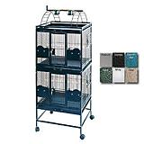 A and E Double Stack Playtop Bird Cage