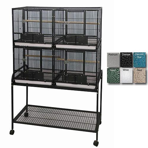 a and e 4-unit bird cage black on lovemypets.com