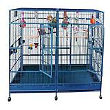 A and E Stainless Steel Double Flat Top Macaw Cage