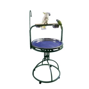 A and E Bird Playstand White