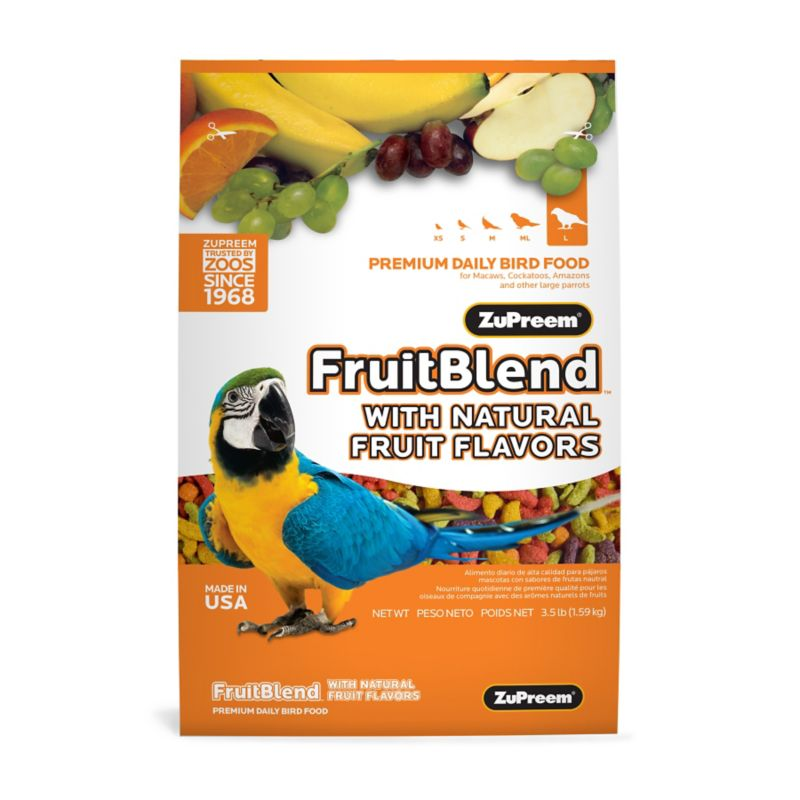ZuPreem Fruit Blend Bird Food Large Parrot 17.5lb