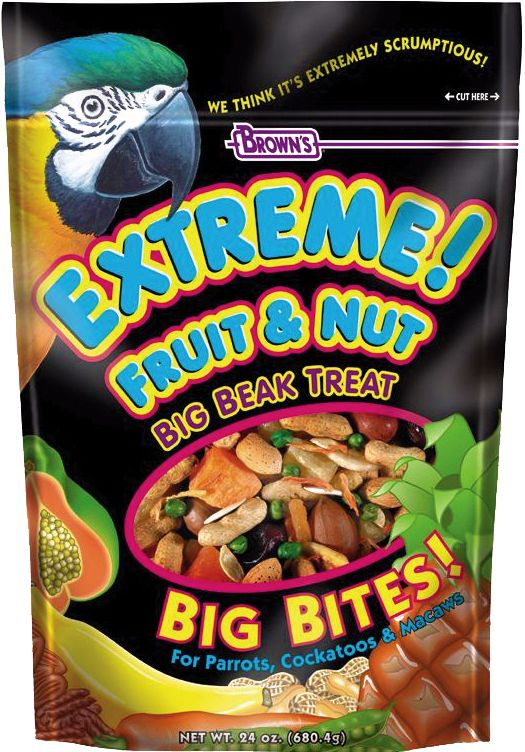 Browns Extreme Fruit and Nut Parrot Treat 24oz