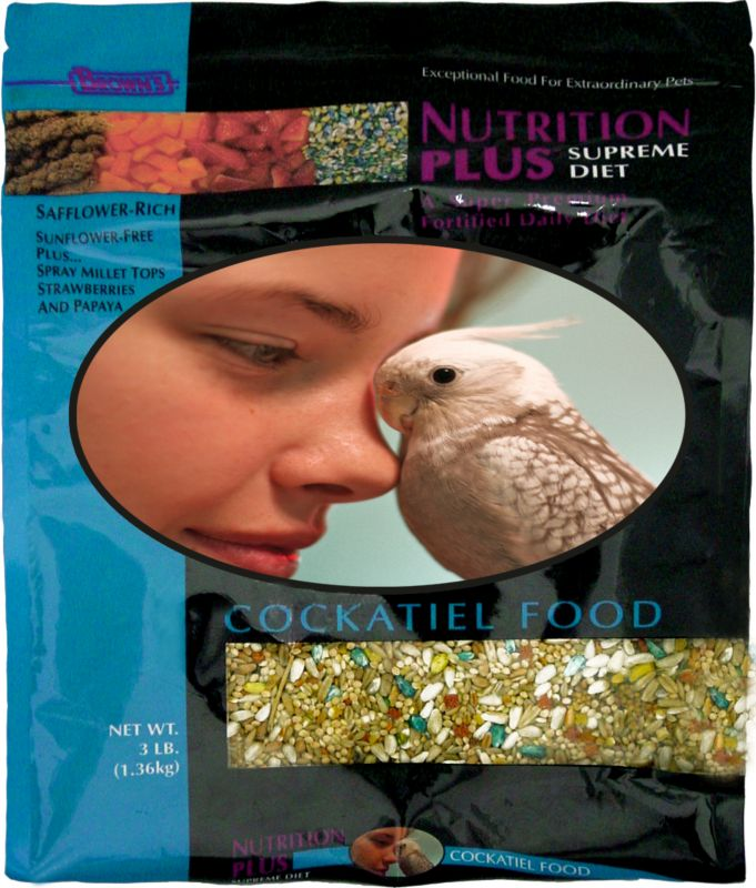 Browns Nutrition Plus Bird Food 22.5lb Cockatiel