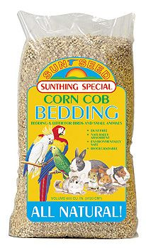 Sun Seed Small Pet Corn Cob Bedding Medium
