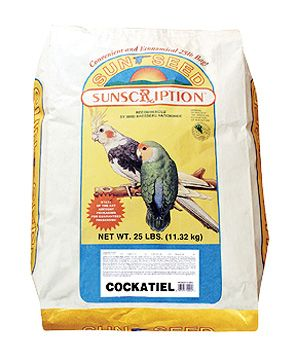 Sun Seed Cockatiel Mix Bird Food 25lb
