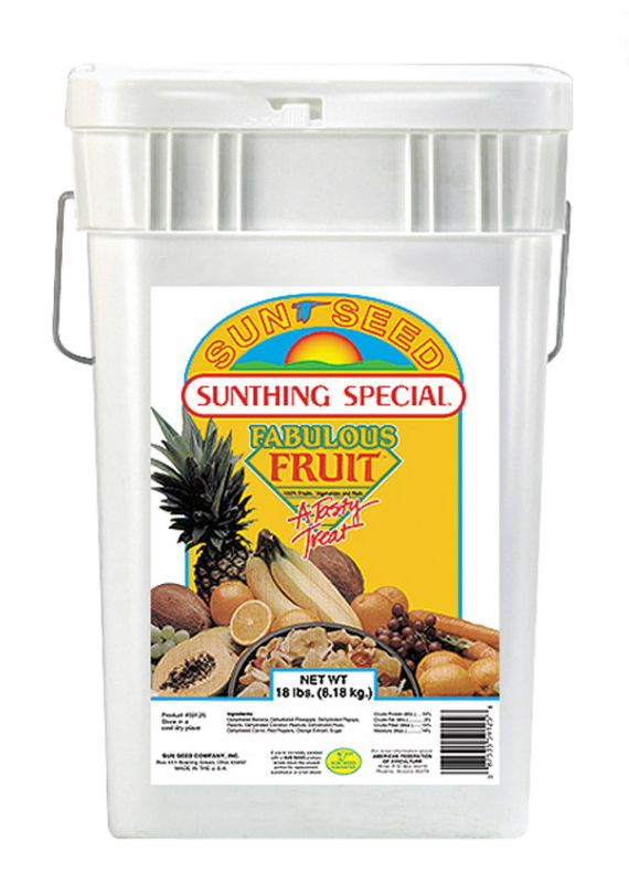 Sun Seed Fabulous Fruit Parrot Bird Food 18lb