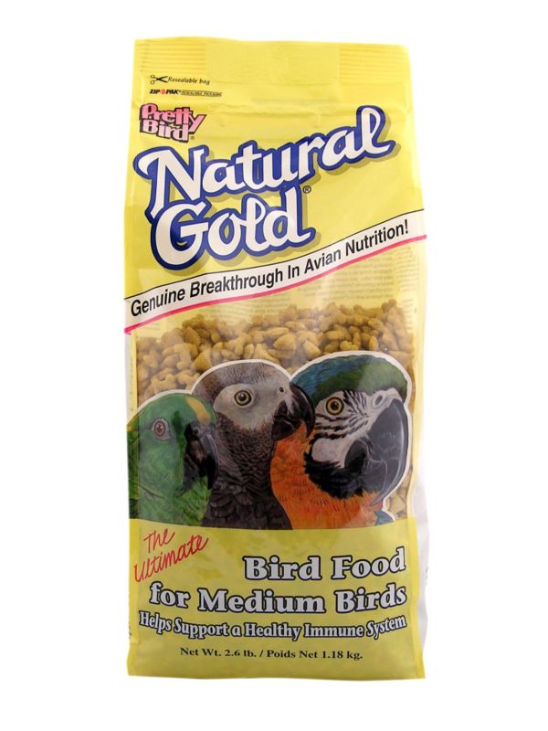 Natural Gold Food for Medium Birds