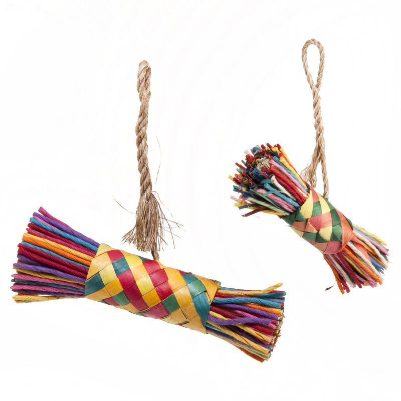 Planet Pleasures String and Buri Bird Toy Medium