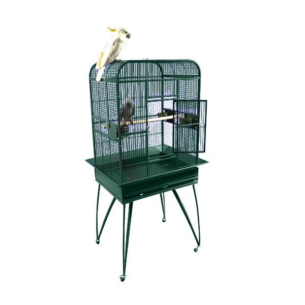 A and E Medium Flat Top Bird Cage Platinum Best Price