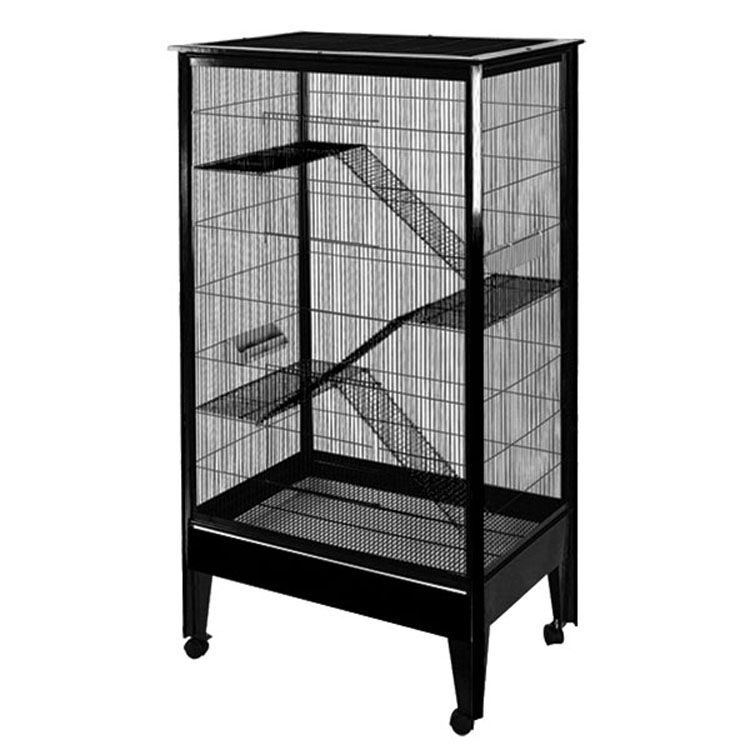 A and E 4-Level Small Animal Cage Black