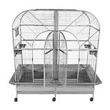 A and E Stainless Steel Double Macaw Bird Cage