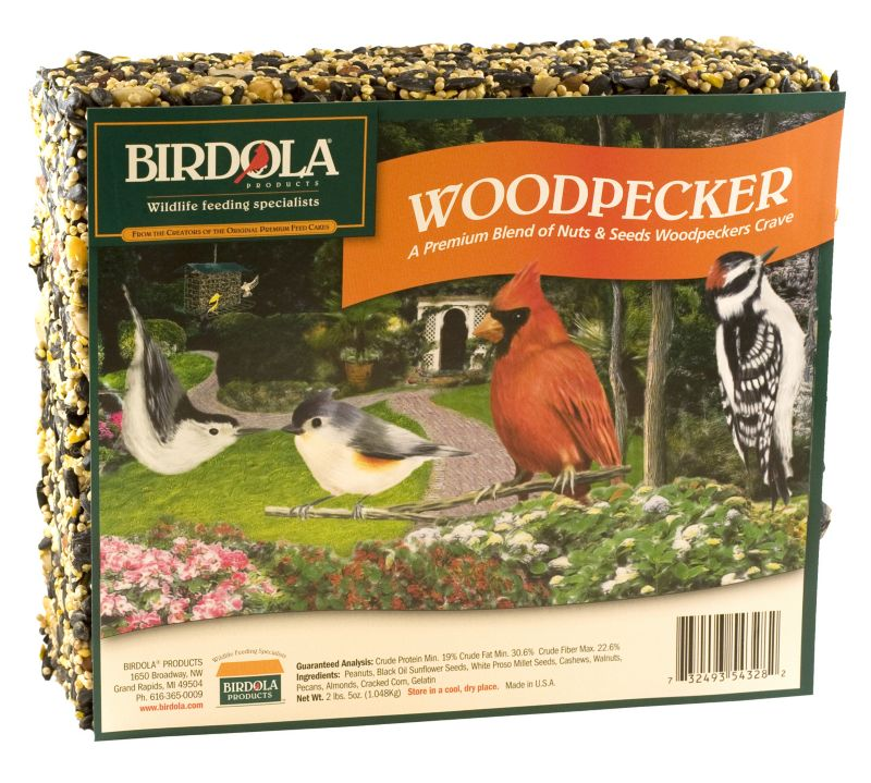 Birdola Woodpecker Wild Bird Large Seed Cake (UNITED PET GROUP 54328 732493543282 Wild Bird Supplies Bird Food) photo