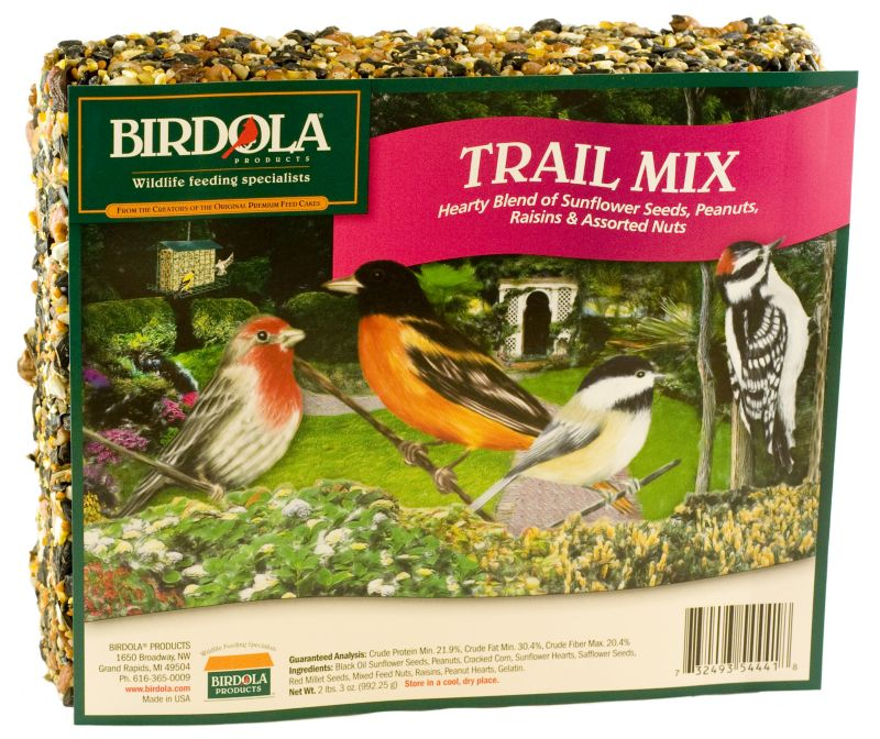 Birdola Trail Mix Wild Bird Large Seed Cake (UNITED PET GROUP 54441 732493544418 Wild Bird Supplies Bird Food) photo