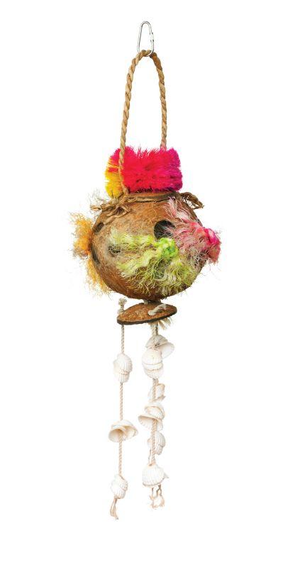 Tropical Teasers Coconut Fun Bird Toy