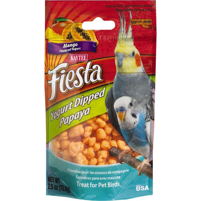 KT Fiesta Yogurt Dipped Papaya Slices Bird Treats