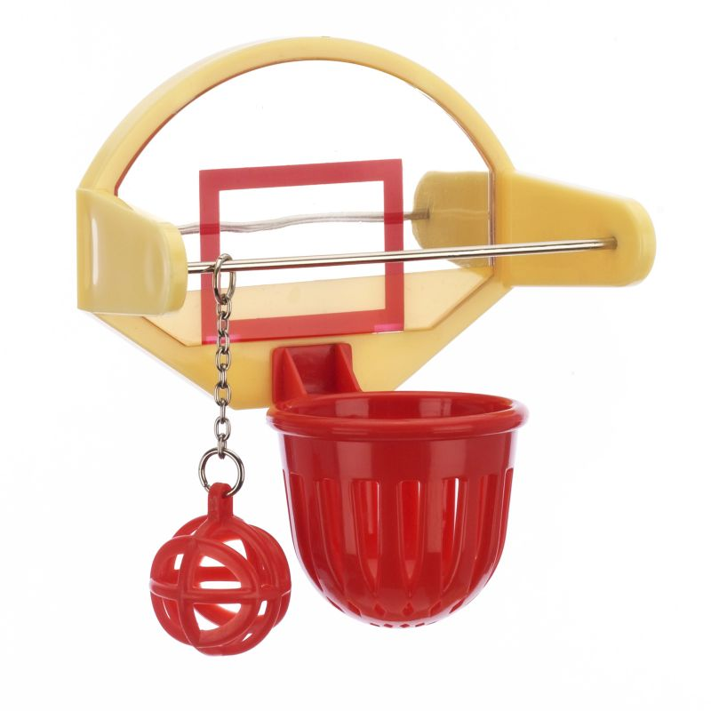 JW Pet Activitoy Birdie Basketball Bird Toy