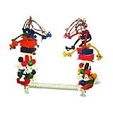 Happy Beaks Rope Bird Swing With Blocks