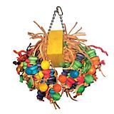 Happy Beaks Wood Ball Cluster Bird Toy