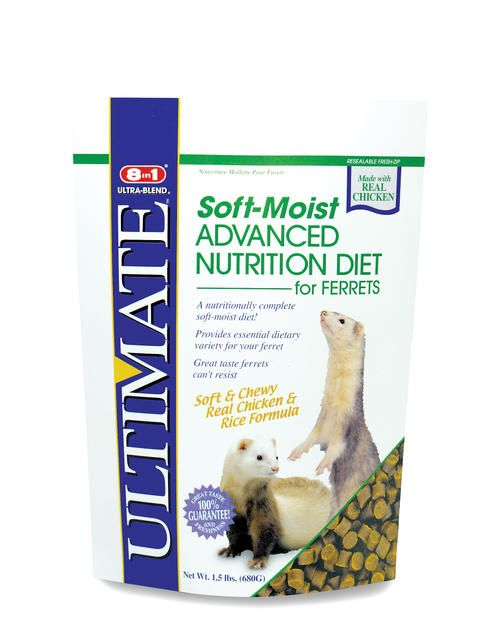 8 in 1 Ultimate Ferret Diet Soft Moist