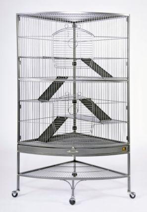 Corner Ferret Cage Hammertone Finish