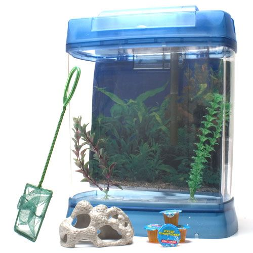 Aquatic Edge Aquarium Tank Kit 5 Gal Blue