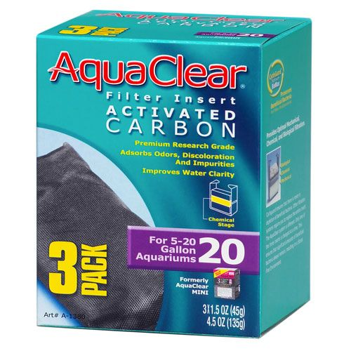 Hagen Aqua Clear Activated Carbon 3pk 20 Gallon