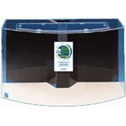 Image of Acrylic Bowfront Aquarium 100 Gal Black