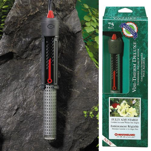 Aquarium Sys Visi-Therm Submersible Heater 75w