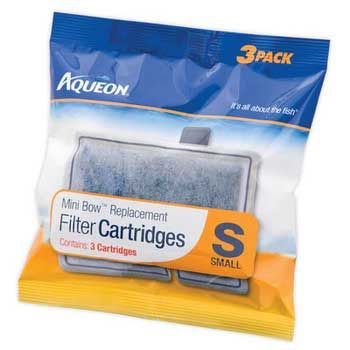 Aqueon Mini Bow Filter Cartridge 3 Pack