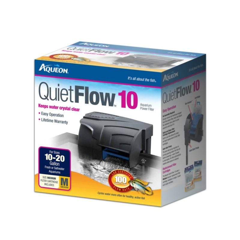 Aqueon Quietflow Aquarium Power Filter 10