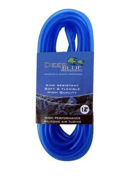 Deep Blue Silicone Aquarium Air Tubing 25 feet