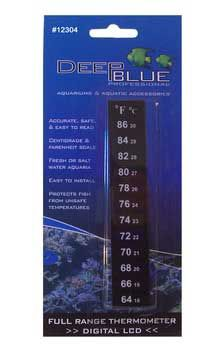 Deep Blue LCD Stick-On Aquarium Thermometer