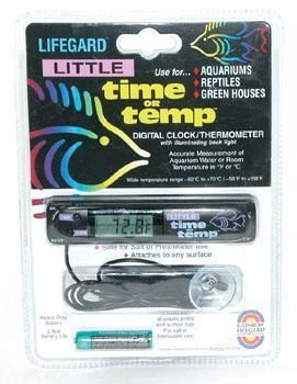 Digital Clock and Aquarium Thermometer