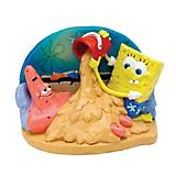 Spongebob and Patrick in Sand Aquarium Ornament