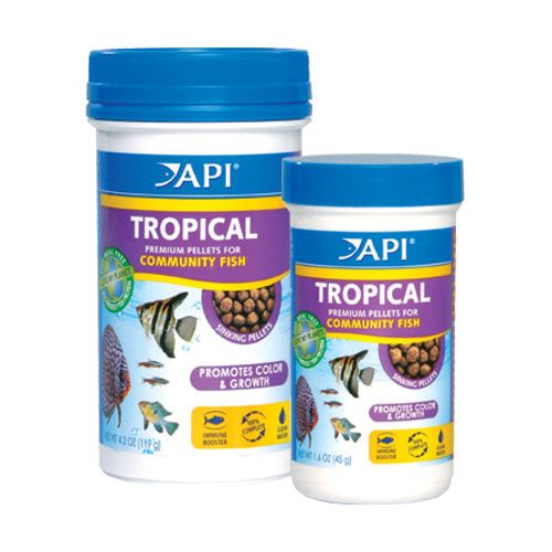 API Tropical Fish Small Pellet Food 1.7 oz.