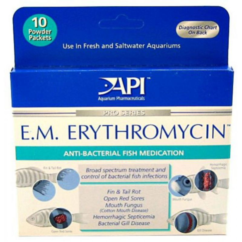 API E.M. Erythromycin Medication Powder Packets