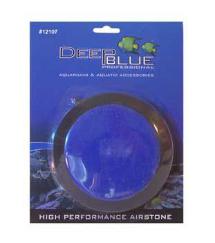 Deep Blue Disk Air Stone 5In