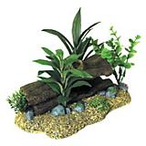 Blue Ribbon Log Cavern with Silk Plants