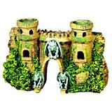 Blue Ribbon Fortress with Gargoyles Ornament