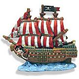 Blue Ribbon Caribbean Pirate Ship Ornament