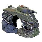 Blue Ribbon Sunken Army Tank with Cave Ornament